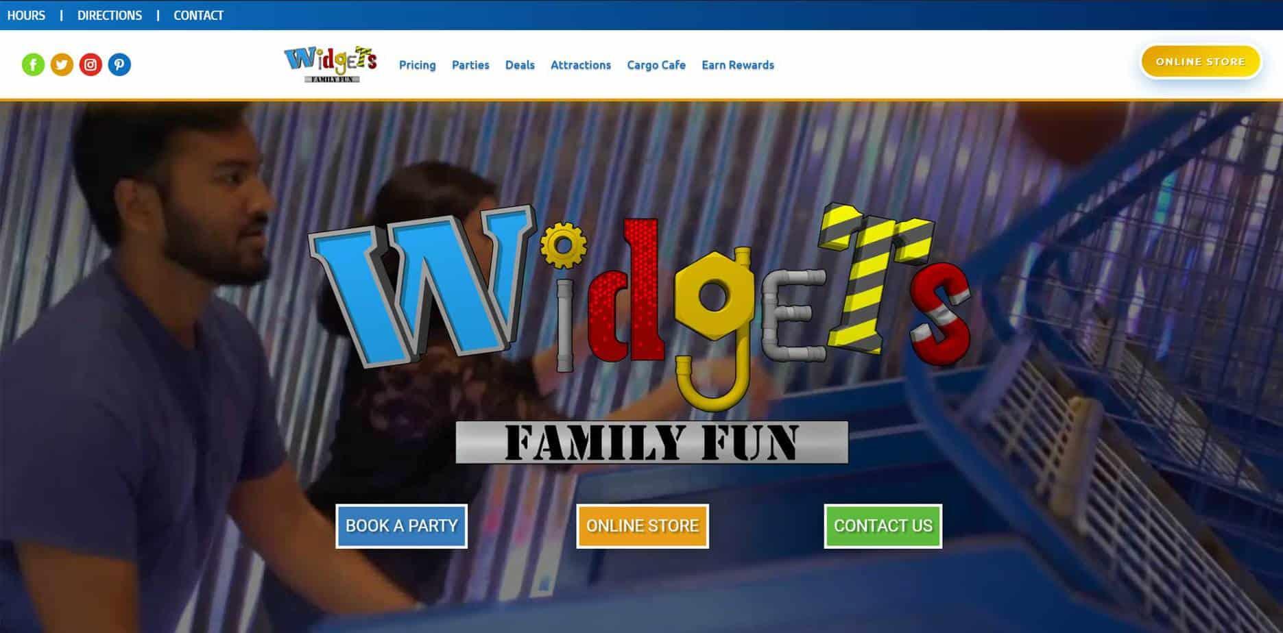 Widgets Family Fun - Kansas Website Design