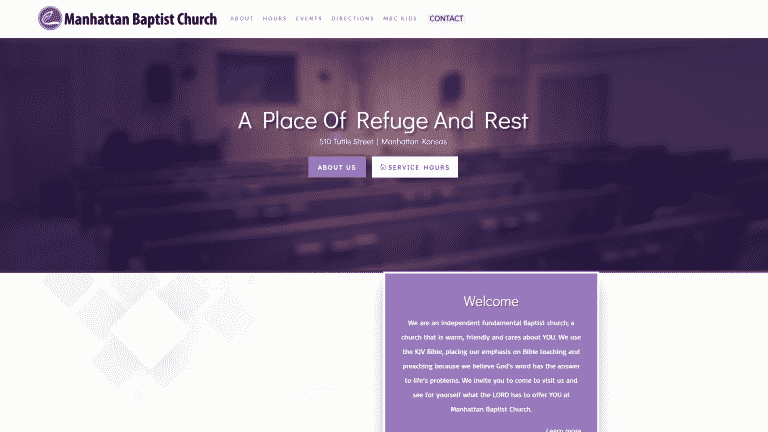MKS Web Design created the website for Manhattan Baptist Church