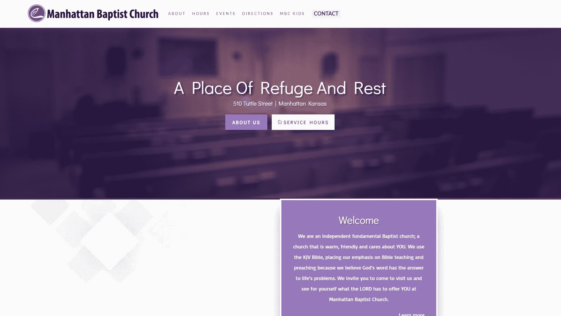 MKS Web Design created the website for Manhattan Baptist Church