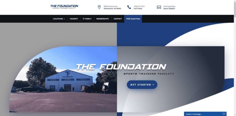 The Foundation Sports Training Facility website by MKS Web Design