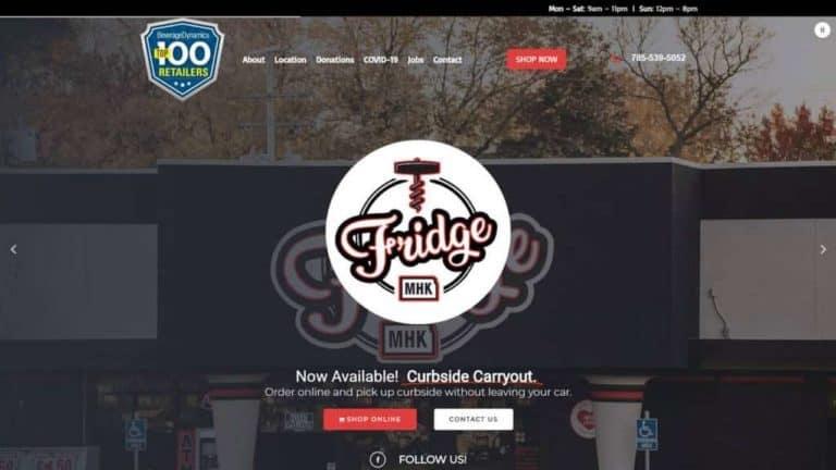 The Fridge Manhattan KS website created by MKS Web Design