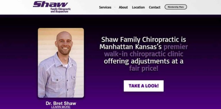 Shaw Family Chiropractic by MKS Web Design