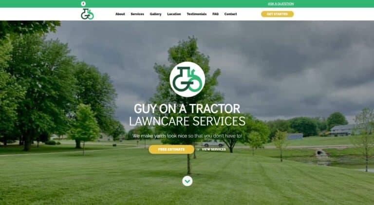 Guy on a Tractor Wamego Kansas, local web design